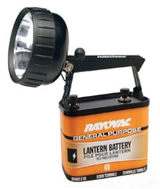 301K RAY 6V LANTERN W/KRYPTON LAMP & 918 GP BATTERY