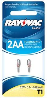 T1-2 RAY KRYPTON BULB FOR 2 CELL AA Flashlight 2/Cd 10/Box R2AAB ZZZZZZZZZZZZZZZZ .