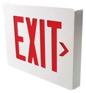 SESRBN CEILING/WALL DUAL LITE SEMPRA LOW-PROFILE EXIT SIGN