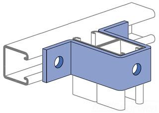 UNISTRT P1737EG -U- SHAPE FITTING ELECTRO-GALVANIZED