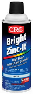18414 CRC BRIGHT ZINC-IT INSTANT COLD GALVANIZE
