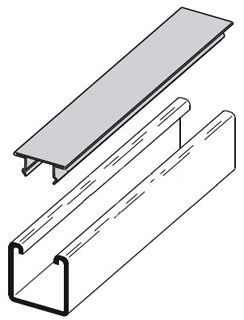 B217-20-10FT-GALV B-LINE SNAP CLOSURE STRIP FOR ALL 1 5/8-IN. WIDE CHANNELS, 20 GA., 120