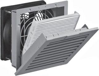 HAM-MFG PF22000T12LG 38 CFM FILTER FAN, 115V N12 - LT. GRAY