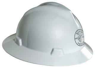 60031 KLEIN HARD HAT V-GARD -WHT LMAN LOGO 09264460031