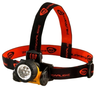 61052 STM SEPTOR YELLOW HEADLAMP W/7 WHT LED ELASTIC &RUBBER STRAPS