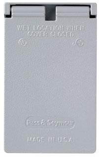 CA7GV P&S WP 1G VERT SINGLE RCPT COVER (5155-0)