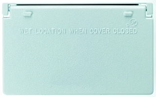 CA26-WH P&S WP 1G HORIZ DECORATOR COVER WHITE (WGF100CWH) (TP7237)