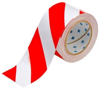 104348 BRADY 3 IN X 100 FT B514 RED/WHITE FLOOR TAPE 75447316126