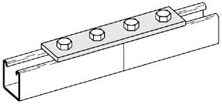 B341ZN B-LINE FITTING 4-HOLE SPLICE PLATE SEE X207
