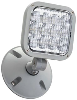 ELALEDWPM12 LITHONIA GRAY, DIE-CAST ALUMINUM, OUTDOOR WEATHER PROOF REMOTE HEAD WITH SINGLE ADJUSTABLE LED LAMP HEAD, 9.6V, 1.0W (CI# 210TW6)