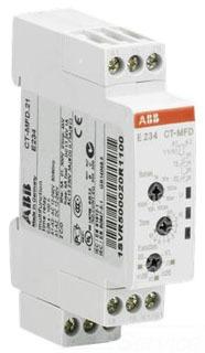 1SVR500020R1100 ABB MULTI FUNCTION TIMER CT-MFD.21 DPDT (5 AMP) DIN-MOUNT 7-FUNCTION 7-TIME RANGES 12-240V AC/DC POWERED