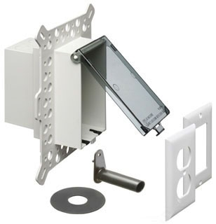 DBVM1C ARL CLEAR RECESSED WP IN-USE COVER/BOX-STUCCO/WOOD SIDING