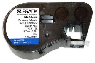 MC-375-422 BRADY MSERIES B422 WHITE 0.375
