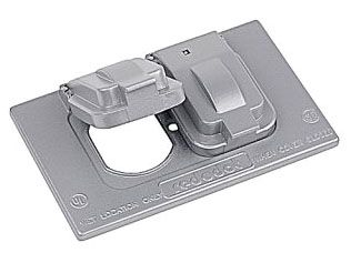 DCCD RED 1-GANG RT DUPLEX COVER GREY