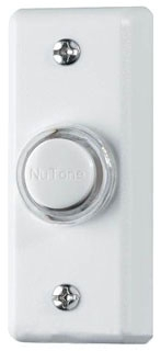PB69LWH NUTONE PUSHBUTTON, LIGHTED IN WHITE