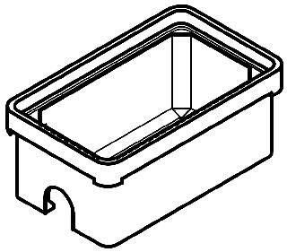 QUAZ PG1324BA24 13 X 24 X 24 BOX W/ OPEN BOTTOM 24-IN