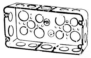 H3BD 3/4 1 T&B 3 GANG DEEP BOX, 1