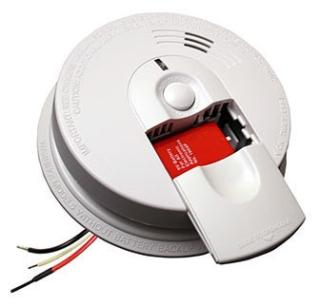 21007582 (i5000) FIREX 120V SMOKE DETECTOR W/9V ALKALINE BATTERY BACK-UP & LATCHING LED