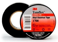 1700 MMM 3/4X60FT TEMFLEX VINYL BLACK TAPE