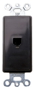 40649 LEV PHONE DECORA INSERT 4C RJ11 BROWN