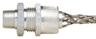 L7708 LEV STRAIN REL CORD GRIP 2 NPT 1.40 - 1.75 W/ STAINLESS STEEL MESH