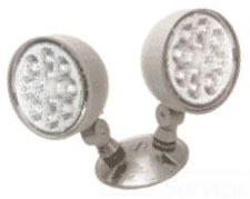 ELATQWPL0309M12 LITHONIA GRAY CAST ALUMINUM TWIN OUTDOOR REMOTE WITH ADJUSTABLE LED LAMPHEADS, 3W 9V (CI# 201JJM) 74597270729
