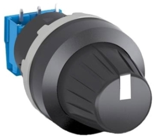 MT-110B ABB POTENTIOMETER MODULAR RANGE BLACK KNOB W/POS INDICATOR BLACK PLASTIC BEZEL AND 10K OHM RESISTOR 1SFA611410R1106