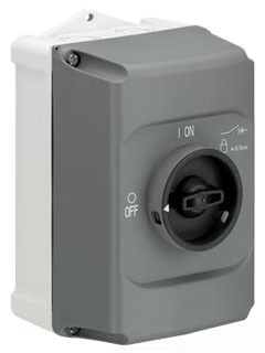IB132-G ABB ENCLOSURE IP65 3X LOCKABLE BLK HNDL