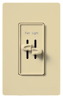 S2LFSQ-IV LUT FAN SWITCH/DIMMER IVORY
