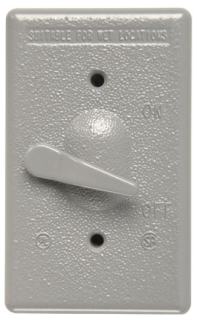 CA1-GL P&S WP 1G VERT SWITCH COVER W/ HANDLE 78500726450