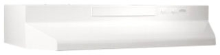 F403611 NUTONE WHITE-ON-WHITE RANGE HOOD