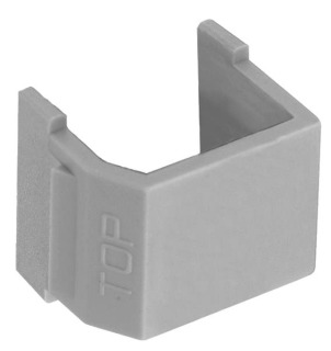 SFSBGY10 HUB SNAP-FIT, SMOOTH-BLANK,GY,10PK