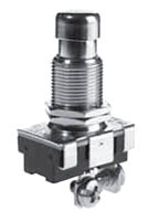 SS224-BG SEL PUSHBUTTON SWITCH SPST ON-OFF 15A@120VAC SCRW TERMLS