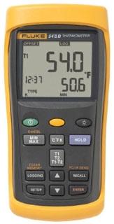 FLUKE-54-2B60HZ FLUKE DUAL INPUT THERMOMETER W/ USB RECORDING 60HZ NOISE REJECTION