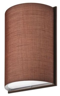 DLSD16BZF02 LITHONIA LED SCONCE SMALL 1/2 CYLINDER WITH FRAME, BRONZE, CHOCOLATE LINEN (CI# 208W82) 78423182375