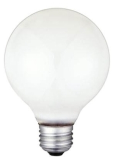 0312300 WESTINGHOUSE 60W G-25 STD BASE WHITE 3