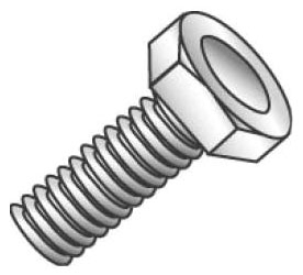 55216J CULLY 5/16-18 X 1 HEX HEAD BOLT ZP 08593708262