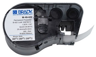 M-49-422 BRADY MSERIES B422 WHT 1.0