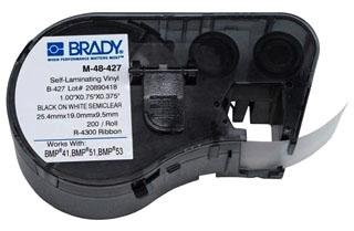 M-48-427 BRADY MSERIES B427 WHT 1.0