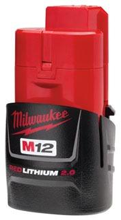 48-11-2420 MILWAUKEE M12 REDLITHIUM 2.0AH CP BATTERY PACK 04524229326