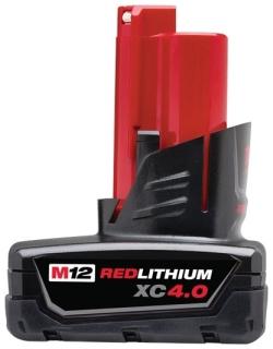 48-11-2440 MILWAUKEE M12 REDLITHIUM 4.0AH XC BATTERY PACK