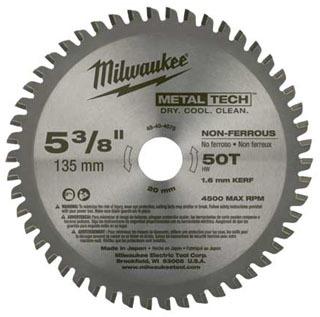 48-40-4075 MILWAUKE CIRC SAW BL 5-3/8 NON FERR