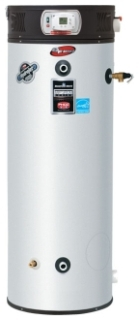 """EF-100T-199E-3N BRADFORD WHITE """"eForce"""" COMMERCIAL HIGH EFFICIENCY GAS WATER HEATER. 100 gal. CAPACITY, 199,000 BTU INPUT, 98.5% THERMAL EFFICIENCY WITH T&P VALVE"""