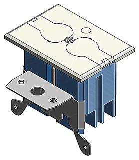B121BFBR CAR FLOOR BOX COMPLETE W/RECPT & COVER IVORY