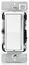 DSL06-1LZ LEV LED/CFL/INCAND DIMMER ROCKER /SLIDE