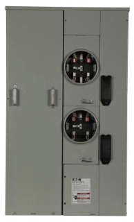 1MP2204RRLB CH METER PACK 120/240V 2 SOCKET 1PH 3 WIRE NEMA 3R 200A SOCKET RATING (NEEDS LUG KIT)