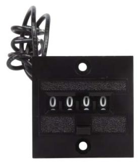 41314406 DUR 4 DIGIT PANEL MOUNT MINI ELECTRIC COUNTER 120VAC 4-Y-41314-406-MEQ
