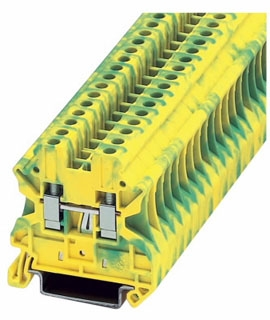 XBUT4PE CH 6.2MM GROUND BLOCK 26-8AWG
