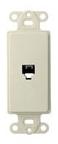 40649-T LEV PHONE DECORA INSERT 4C RJ11 LT ALMOND