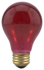 25A19/TR/RP-125V SYL 25W A19 11712 TRANSPARENT RED LAMP
